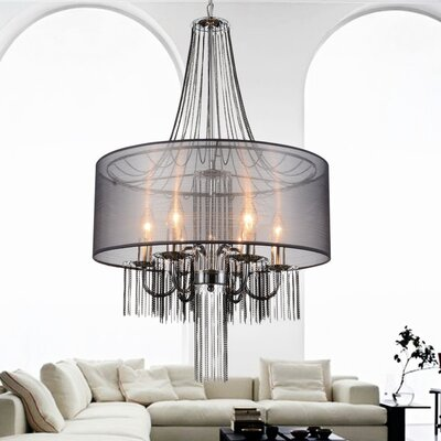 6-Light Drum Chandelier Finish: Black