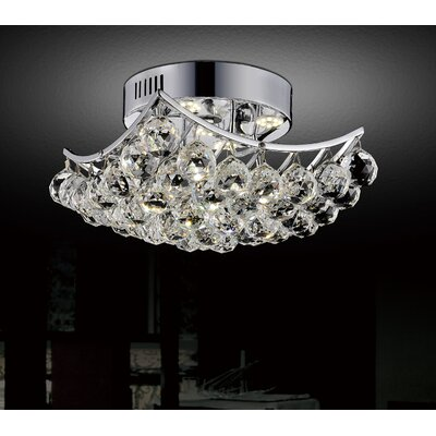 4-Light Semi Flush Mount Size: 7 H x 10 W x 10 D