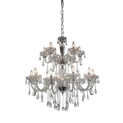 18-Light Candle-Style Chandelier