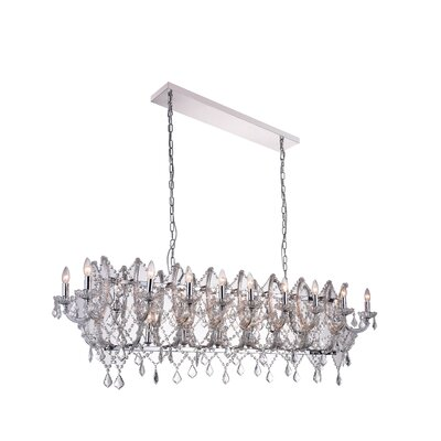 24-Light Candle-Style Chandelier