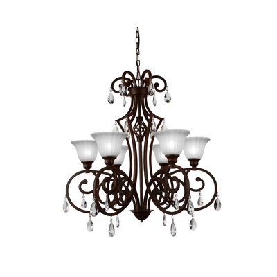 Shakira 6-Light Shaded Chandelier