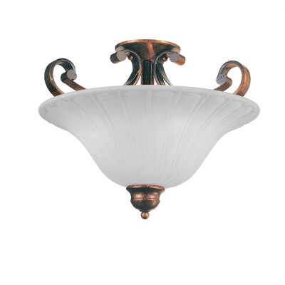Victorian 3-Light Semi Flush Mount