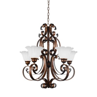 Victorian 5-Light Shaded Chandelier