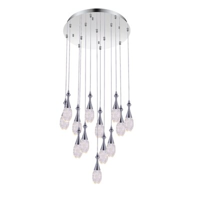 13-Light LED Crystal Chandelier