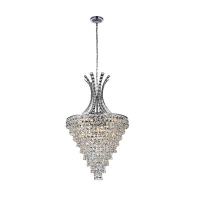 Chique 13-Light LED Crystal Chandelier
