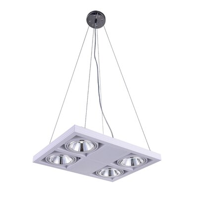 Wrest 4-Light LED Drum Chandelier