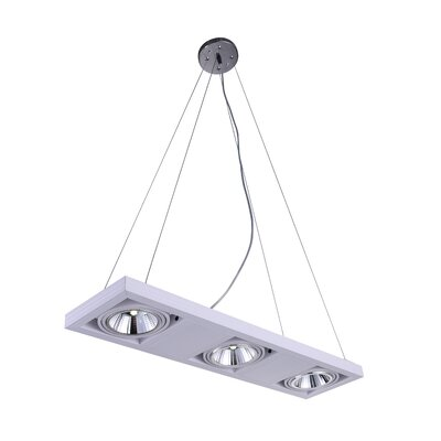 Wrest 3-Light LED Drum Chandelier