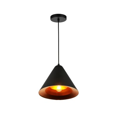 Keila 1-Light LED Mini Pendant Finish: Black
