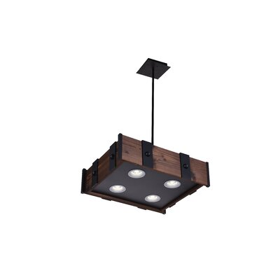 Pago 4-Light LED Drum Chandelier