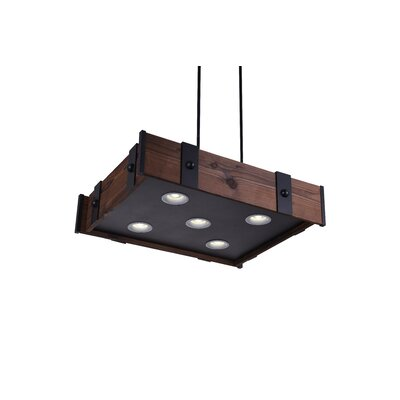 Pago 5-Light LED Drum Chandelier