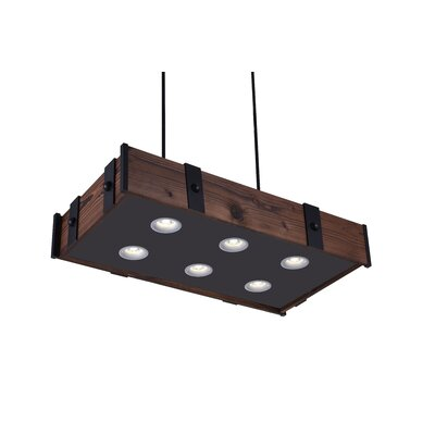 Pago 6-Light LED Drum Chandelier