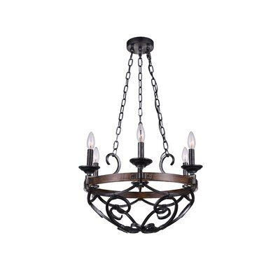 Morden 6-Light LED Candle-Style Chandelier