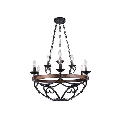 Morden 9-Light LED Candle-Style Chandelier