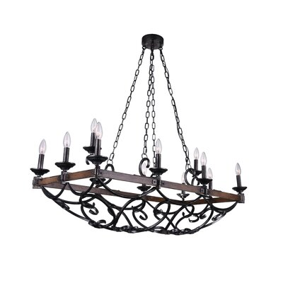 Morden 12-Light LED Candle-Style Chandelier