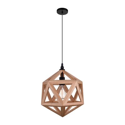 Lante 1-Light LED Geometric Pendant Finish: Natural Wood