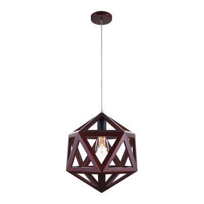 Lante 1-Light LED Geometric Pendant Finish: Cherry