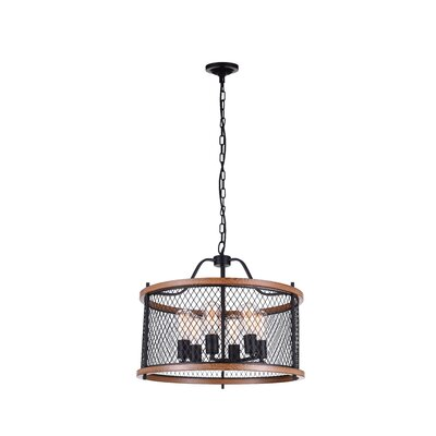 Kayan 6-Light LED Drum Chandelier