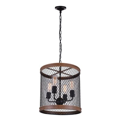 Torres 4-Light LED Drum Chandelier