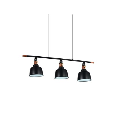 Tower Bell 3-Light Kitchen Island Pendant Shade Color: Black