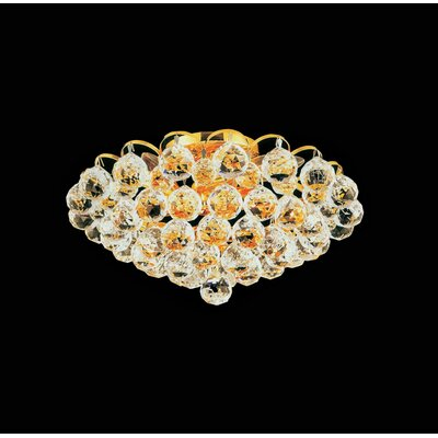 Glimmer 4-Light Semi Flush Mount Finish: Gold