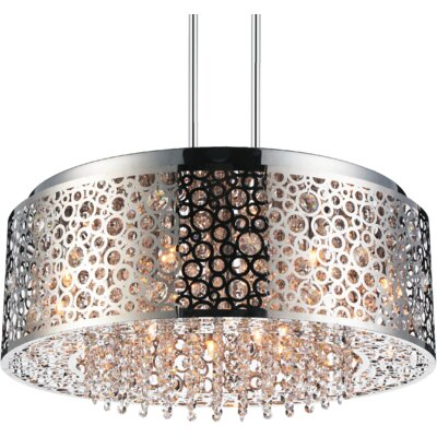Bubbles 9-Light Drum Chandelier