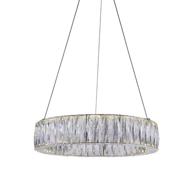 Juno 1-Light LED Crystal Pendant