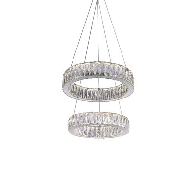 Juno 2-Light LED Crystal Pendant
