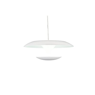 Aviva 1-Light LED Mini Pendant Finish: White, Size: 6 H x 16 W x 16