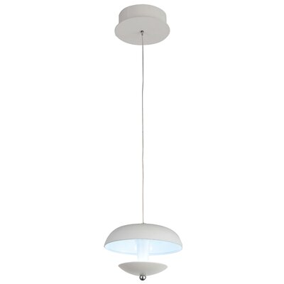 Aviva 1-Light LED Mini Pendant Finish: White