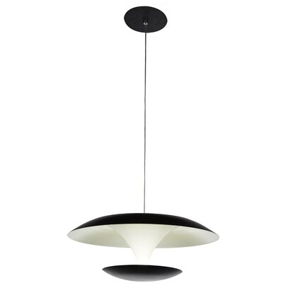 Aviva 1-Light LED Mini Pendant Finish: Bright Nickel, Size: 5 H x 8 W x 8 D