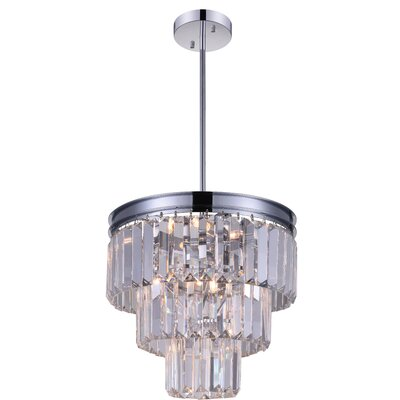 Weiss 8-Light Crystal Chandelier