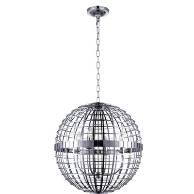 Niya 4-Light Globe Pendant Finish: Chrome