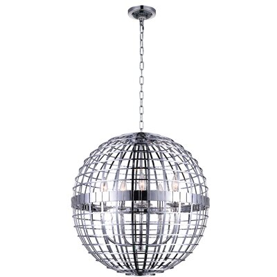 Niya 5-Light Globe Pendant Finish: Chrome