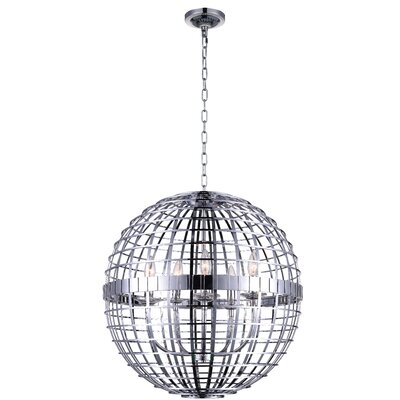 Niya 6-Light Globe Pendant Finish: Chrome