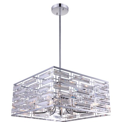 Petia 8-Light Drum Pendant Size: 10 H x 21 W x 21 D