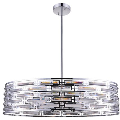 Petia 8-Light Drum Pendant