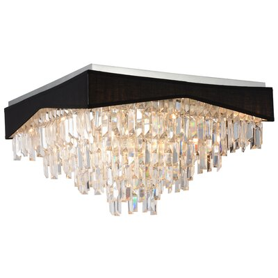 Havely 13-Light Flush Mount Shade Color: Black