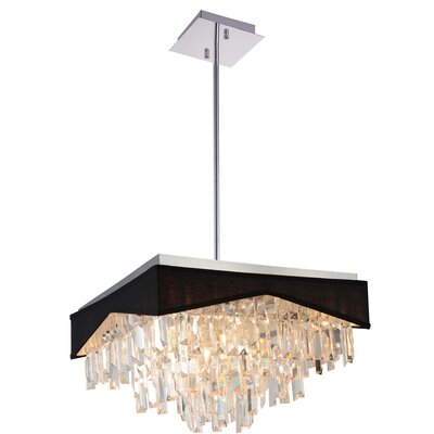 Havely 13-Light Crystal Chandelier Shade Color: Black