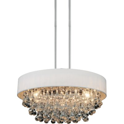 6-Light Crystal Chandelier Shade Color: White