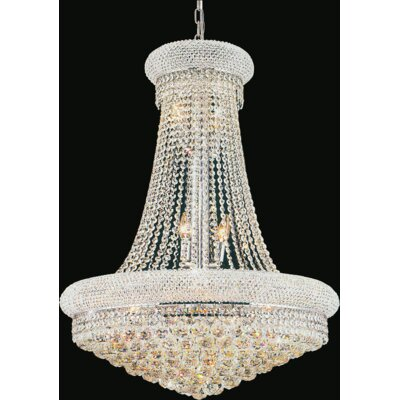 18-Light Empire Chandelier Size: 36 H x 28 W x 28 D