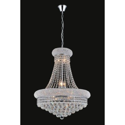 Empire 14-Light Crystal Chandelier Finish: Chrome