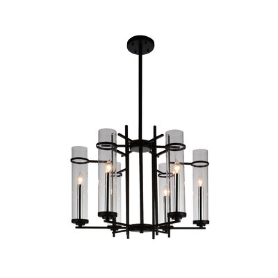 Sierra 6-Light LED Candle-Style Chandelier Size: 121 H x 30 W x 30 D
