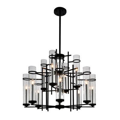 Sierra 12-Light LED Candle-Style Chandelier Size: 130 H x 38 W x 38 D