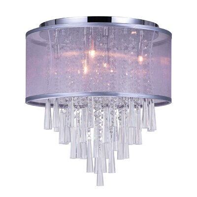 6-Light Flush Mount Shade Color: Silver