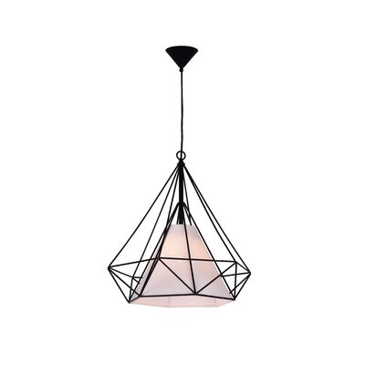 Diamond 1-Light Geometric Pendant Size: 88 H x 15 W x 15 D