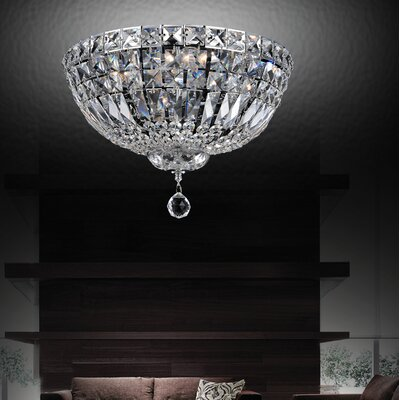 Baptiste 4-Light LED Flush Mount Size: 11 H x 16 W x 16 D