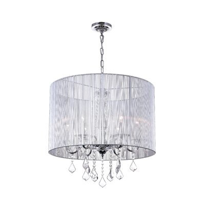 6-Light Drum Pendant Shade Color: Silver