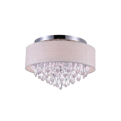 Dash 4-Light Flush Mount Shade Color: Off White