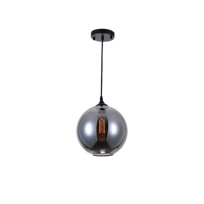 Glass 1-Light Globe Pendant Shade Color: Smoke