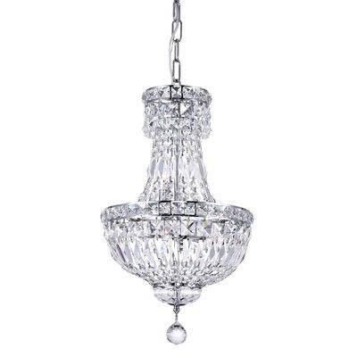 Stefania 4-Light Crystal Chandelier Size: 92 H x 12 W x 12 D